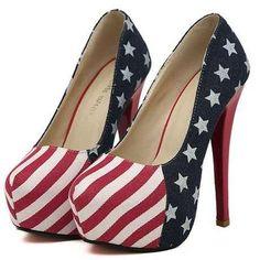 Zapatillas Pumps Bandera Usa Estados Unidos Loverio - en MercadoLibre