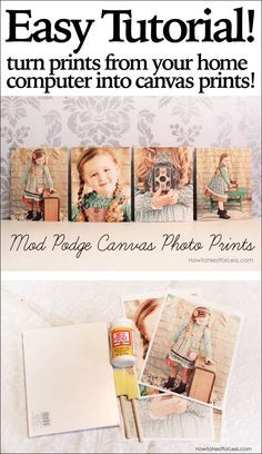 Mod Podge Canvas Photo Prints..an easy one with you today that's cheap and quick to make… Mod Podge Canvas Photo Prints.