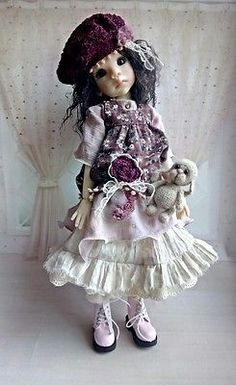 OOAK-set-for-Kaye-Wiggs-dolls-Outfit-boho-6-elements-and-bear-for-MSD-BJD-Wiggs
