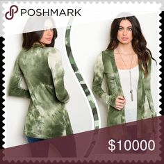 💚💚 Coming Soon 💚💚 Olive and tan tie dye cardigan, perfect for the holiday season. More info coming. Sweaters Cardigans