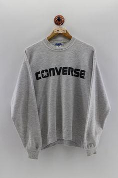 Converse Jacket Gray Converse USA All Star Chuck Taylor Shirt Jumper Pullover Large 0IfDG