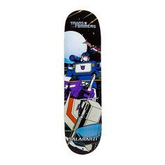 "Primitive Skateboarding x Transformers Bastien Salabanzi ""Soundwave"" deck."