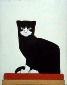 Bart van der Leck (1876 - 1958); De Kat, caseïneverf op eterniet, 1914.