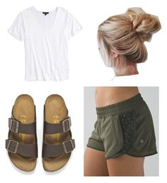 """Untitled #14"" by oliviakhove on Polyvore featuring lululemon, Topshop and Birkenstock"