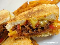 Eat Cake For Dinner: Sloppy Grilled Cheese Sandwiches