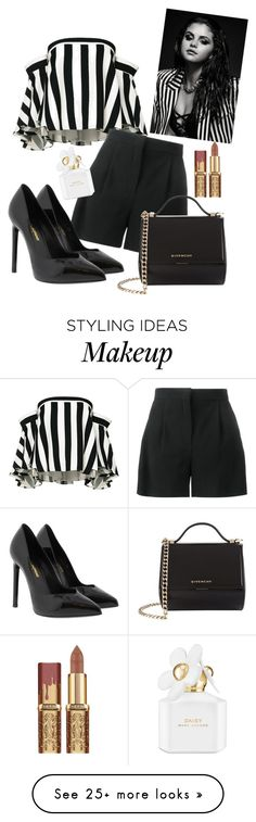 """Stripes"" by bitty-junkkitty on Polyvore featuring Milly, Alberta Ferretti, Yves Saint Laurent, Givenchy and Marc Jacobs"