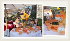Matrimonio Arancione all'aperto - Esposizione Confetti #sposaroma #confetti #fioriroma #matrimonio #lafloreale www.laflorealedistefania.it
