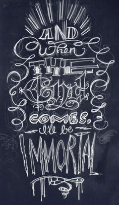 Chalk: And When The . .