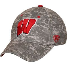 new product 4be0e f4273 Wisconsin Badgers Top of the World Digital 1Fit Flex Hat - Camo, Sale    11.99