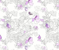 Beverley_s_Garden fabric by rusty_nail_design on Spoonflower - custom fabric