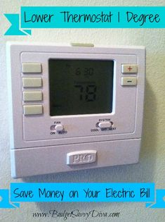 Save on Your Electric Bill: Lower Thermostat