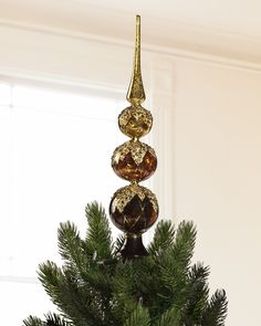Gold and Bronze Christmas Tree Topper | Balsam Hill