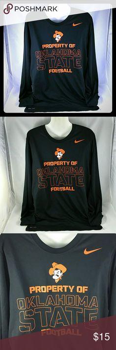 Nike Oklahoma State DriFit Long Sleeve Shirt Oklahoma State Cowboys DriFit Tee Size - Large 100% polyester Nike Shirts Tees - Long Sleeve