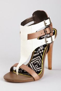 """Strappy heels via Agua Shoes""- Fitness 