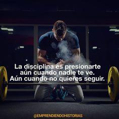 Menos motivación más disciplina.