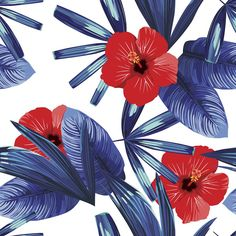 Hibiscus Removable Wallpaper