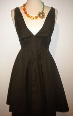 """J Crew Cotton Cady Full Skirt 1950's Style Mad Men Cocktail Dress"" on ebay"