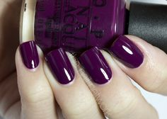 Love this color for fall  -  OPI: Casino Royal