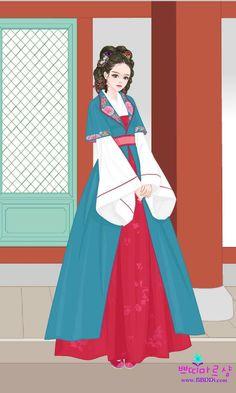 Korean Traditional Dress, Traditional Dresses, Jang Nara, Devian Art, Korean Hanbok, Court Dresses, Scarlet Heart, Learn Korean, Moon Lovers