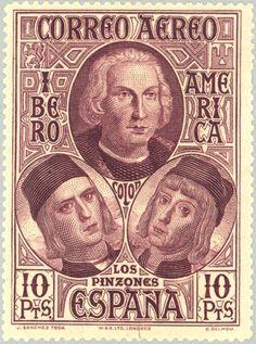 Sello: Discovery of America (España) (Discovery of America) Mi:ES 536,Yt:ES PA74,Edi:ES 565