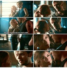 """You give yourself way to much credit."" ""Do I?"" Clary and Jace 3x01 #Shadowhunters"