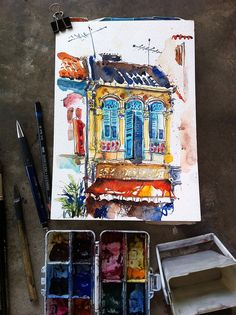 Sketching at Syed Alwi Road by PaulArtSG, via Flickr