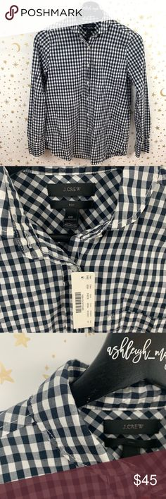 f0c80cddf J. Crew   Boy Shirt Gingham Button Down Shirt NWT J. Crew Club Collar