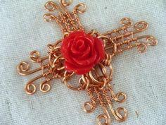 (5) Name: 'Jewelry : Flowery Cross Pendant