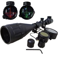 Tactical Hunting Rifle Scope Red/Green Illuminated With Free Mounts
