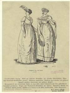 [Women in long dresses and gloves, Germany, 1799.]