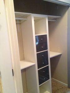 diy closet with ikea's Expedit system