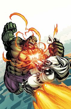 Doctor Doom (Dr. Victor Von Doom) vs. Hulk (Dr. Bruce Banner) (Savage Hulk persona) | art by Ed McGuiness