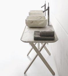 Italian brand Decormarmi's Kreoo line of indoor and outdoor marble furnishings
