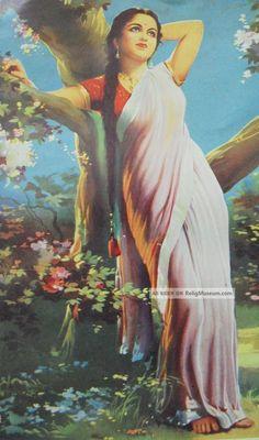 vintage_old_rare_indian_lady_portrait_print_4_lgw.jpg (604×1024)