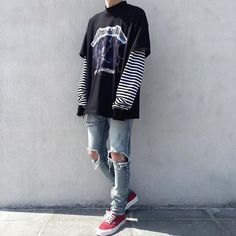 38 Trendy style edgy boy - 38 Trendy style edgy boy You are in the right place about edgy fashion Here we offer you the - Edgy Outfits, Mode Outfits, Grunge Outfits, Cool Outfits For Boys, Casual Hipster Outfits, Punk Rock Outfits, Boy Fashion, Trendy Fashion, Korean Fashion
