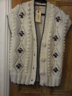 chunky knit waistcoat £18