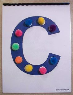 childcareland.com - downloadable alphabet pom pom book template