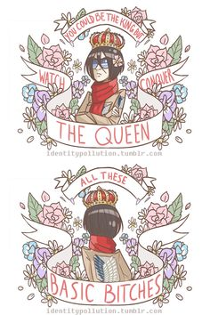Queen Mikasa Totes and Mini Zip Bag Design by IdentityPolution on DeviantArt