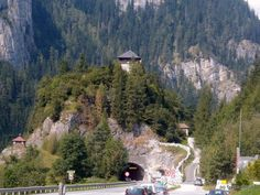Klammstein Castle in Dorfgastein, Austria (...and romantic crags girdled by silver streams and crowned with castles.)