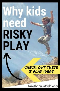 Help your kids gain confidence and skills with risky play - like wild swimming, firestarting, tree climging and more. How to raise a wild child! Outside Activities, Outdoor Activities For Kids, Nature Activities, Childhood Fears, Facing Fear, Backyard Play, Forest School, Human Development