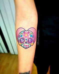 Sweet Tattoos, Girly Tattoos, Love Tattoos, Unique Tattoos, Tatoos, Spooky Tattoos, Skull Tattoos, Body Art Tattoos, Laura Anunnaki