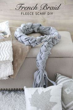 French Braid Scarf DIY - NO-SEW scarf!  Your teenager can make this!  #makeitgiveit