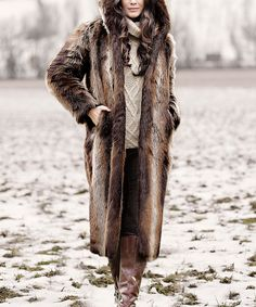 Take a look at this Tanuki Faux Fur Hooded Coat - Plus Too today!