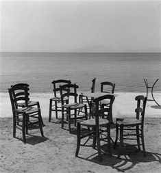 Chairs on the beach by Kees Scherer