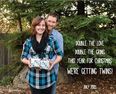 Our twin pregnancy announcement! We couldn't be more excited to be welcoming twins into our little family!