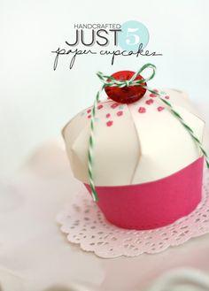5 Ingredient Paper Cupcake   Damask Love Blog