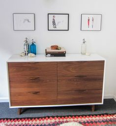 So I (Mia) really like the style of this dresser with the space on top. I would like to avoid the vintage looking furniture and keep it more modern and contemporary.