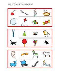 Fitxes per treballar la consciència fonològica Catalan Language, Writing, Reading, School, Learning Numbers, Reading Workshop, Dyslexia, Reading Comprehension, Storytelling