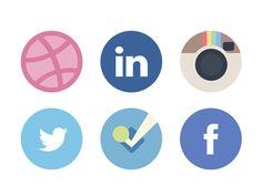 social media icon designs