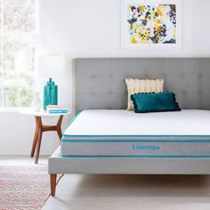 Linenspa Essentials Queen Hybrid Mattress at Lowe's. Designed to elevate your bedroom and provide optimal comfort, this eight-inch mattress is just what you've been looking for. Daybed With Storage, Twin Daybed With Trundle, Bunk Beds With Drawers, Full Bunk Beds, Captains Bed, Twin Platform Bed, Pillow Top Mattress, Mattress Mattress, Home